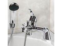Brand New Modern Chrome Bath Filler Hand Held Shower Mixer Tap Bathroom Tap