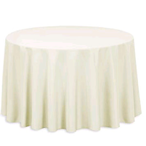 7 round ivory tablecloths