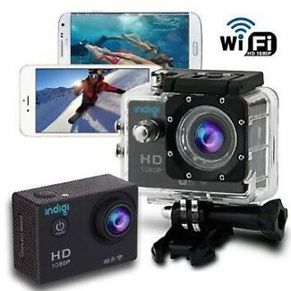 Action Cam Hero 4 style camera 2.0 inch LCD Waterproof 30M 1080P 16GB