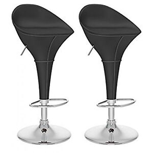 ROUND STYLE ADJUSTABLE LEATHER BAR STOOLS @ VISIONS ELECTRONICS
