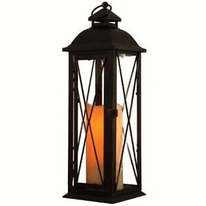 Smart Design Siena Metal Lantern with LED Candle - Brand New