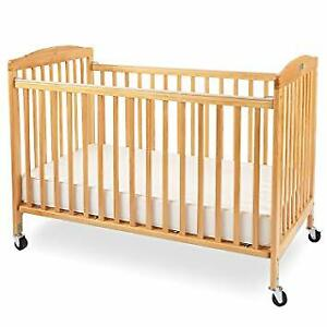 ~Like New~ Solid Maple hardwood Crib bed with mattress 4 in 1 fu