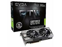 2 x EVGA GTX 1070 8GB graphics card gaming for Sale (Price is for individual)