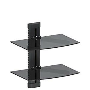 Wall mounted entertainment console shelf