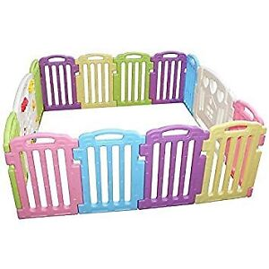 14 Panel Safety Play Center Yard Home Indoor Outdoor Pen Kids