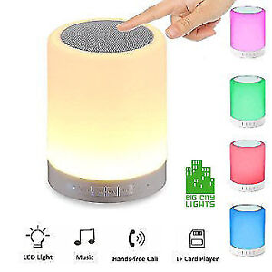 Bluetooth LED Multi Colour Touch Lamp with Speaker!