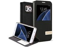 CLEARANCE. 77 CASES SAMSUNG GALAXY S7 EDGE SMART WINDOW VIEW ORIGINAL COVER LEATHER FLIP CASE