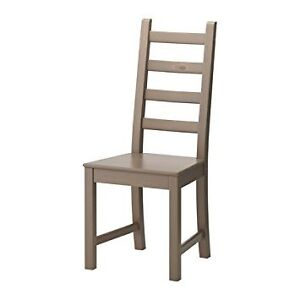 4 grey brown dining chairs. Kaustby