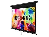 Duronic Projector Screen MPS60/43 Manual Pull Down HD Projection Screen