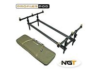 NGT Profiler Carp Fishing Rod Pod and Case