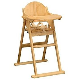 Folding High Chair with insert excellent condition