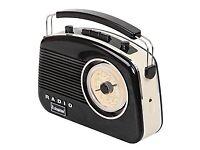 Portable Retro Style Rotary Radio Bluetooth. NEW