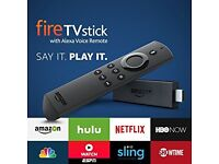 * BRAND NEW * AMAZON ALEXA VOICE FIRE TV STICK LATEST BUILD 2017-AUTO-UPDATES ( Delivery Available )