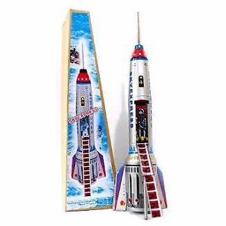 Brand New - Collectable Sky Express Tin Rocket Ship