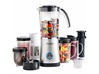 VonShef 4 in 1 Multifunctional Silver Smoothie Maker, Blender, Juicer, Mugs & Grinder