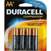 100 Duracell AA Alkaline batteries brand new copper top batterys