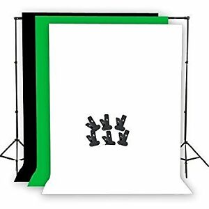 Neewer Green screen 6 x 9 ft / 1.8m X 2.8m Muslin Background