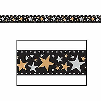 Star Filmstrip Awards Night Hollywood Theme Party Wall Decoration Border - Halloween Filmstrip