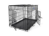 large dog cage good quality cage 36 jnches long all folds down flat in vgc