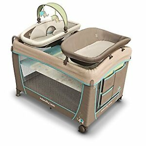 Ingenuity washable playpen with bassinet and change table