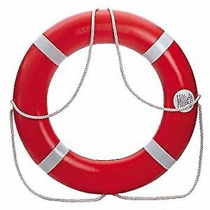 Dock Edge Dolphin Life Ring Buoy! New Condition! +4 Life Vests!