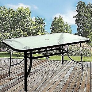 Patio Table - glass top