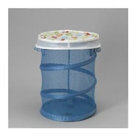 Ikea Cusiner Mesh Storage Basket with Lid , Turquoise Used