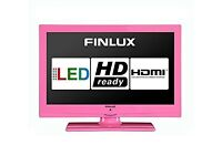 "Pink 19"" HDMI TV Freeview"