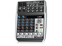XENYX802 premium 8-input 2-bus mixer with xenyx mic preamps and british eqs
