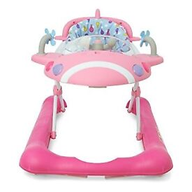 mothercare walker airplane pink - box included