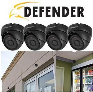 NEW OB DEFENDER DOME SEC CAMS 4PK Wired 600 TVL Ultra High Resolutions Indoor/Outdoor Dome Security Cameras 105687163