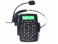 TelPal Corded Call Center Headset Telephone