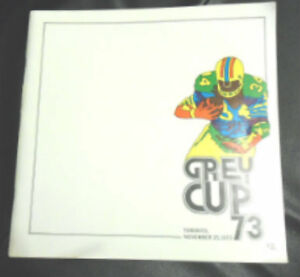 1973 GREY CUP PROGRAM Kitchener / Waterloo Kitchener Area image 1