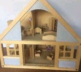 Elc dolls house and large variety of furniture.