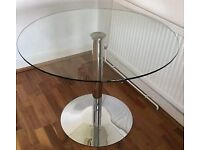 Round Glass Dining Table - John Lewis Enzo