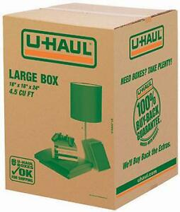 Uhaul moving/storage boxes - great condition, used only once