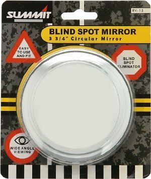 RV 15 LARGE SUMMIT BLIND SPOT MIRROR ROUND ADHESIVE WIDE ANGLE 3 34