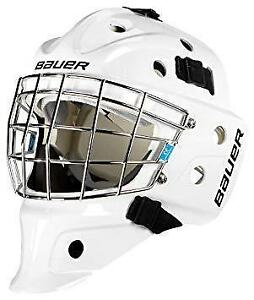 5d6db7c68e0 Bauer NME 3 Youth Certified Goalie Mask (White and Black)
