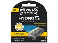 WILKINSON SWORD HYDRO 5 SENSE ENERGIZE MEN'S RAZOR BLADES X 4+MEN'S RAZOR from a smoke&pet free home
