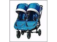 Baby Jogger city mini GT double in Teal and Grey