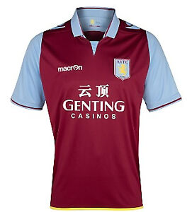 Aston Villa 2012/13 home short sleeved shirt/jersey