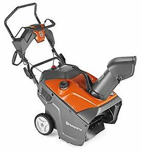 husqvarna single stage snow blower - like new