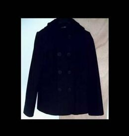 LADIES BLACK HOODED JACKET - SIZE 14 - FOR SALE