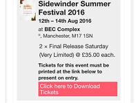 2 Sidewinder tickets