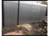 Heras Style •New• Round Top Temporary Security Metal Fence Panels • 3.45 X 2M