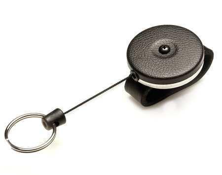 Key-Bak 481B-Sdlk Key Reel, Split Ring Type, 1 1/8 In Ring Size, Black