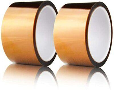 2pcs 2 50mm X 36 Yards Heat Resistant Soldering Polyimide Kapton Tape