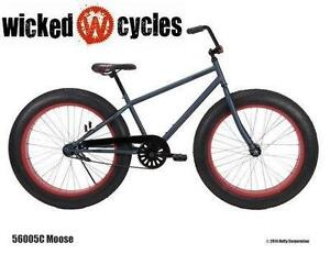 "NEW* WICKED MOOSE 26"" MENS BIKE FAT TIRE - BICYCLE fitness exercise outdoor sport riding 'C'"