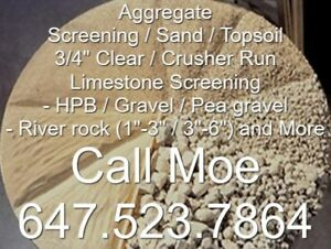 Limestone Screening HPB 3/4 Crush Top Soil Aggregate