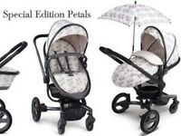 Silver cross surf limited edition petals leaf print travel system pram stroller buggy isofix carseat